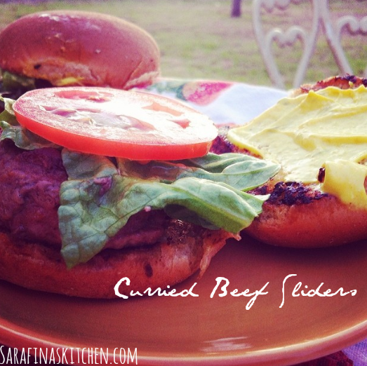 Curried Beef Sliders | Sarafina's Kitchen