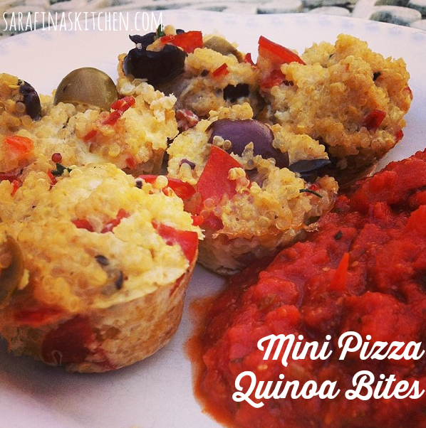 Mini Pizza Quinoa Bites | Sarafina's Kitchen