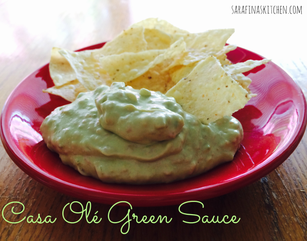 Casa Olé Green Sauce | Sarafina's Kitchen